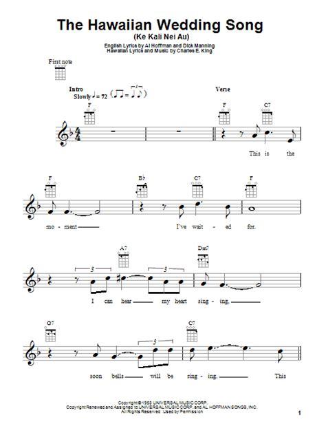 Wedding Song Tab by The Hawaiian Wedding Song Ke Kali Nei Au By Andy