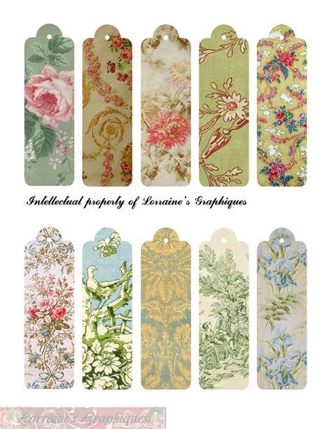 pictures of book marks vintage floral bookmarks set 2 on craftsuprint designed by