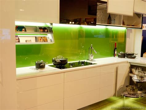 kitchen backsplash paint ideas kitchen of the day modern white cabinets with a solid green back painted glass