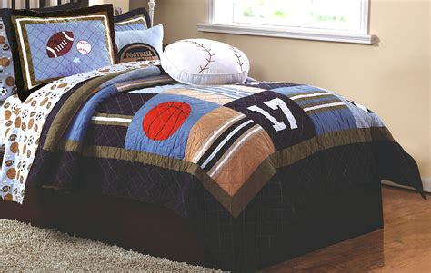 sports time bedding for boys 2pc quilt set
