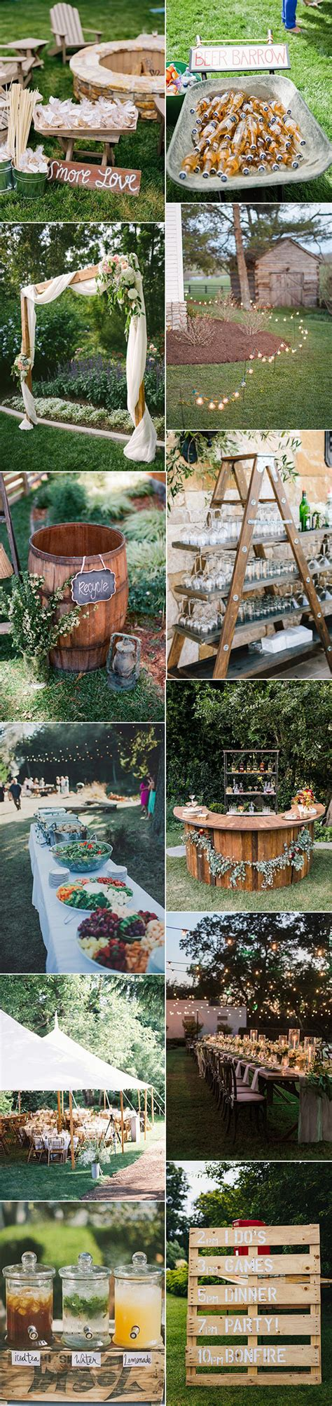 Rustic Backyard Wedding Ideas 20 Great Backyard Wedding Ideas That Inspire Oh Best Day