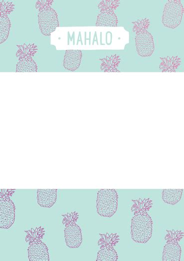 mahalo card template mahalo frame ecard by julie vaccaro open me