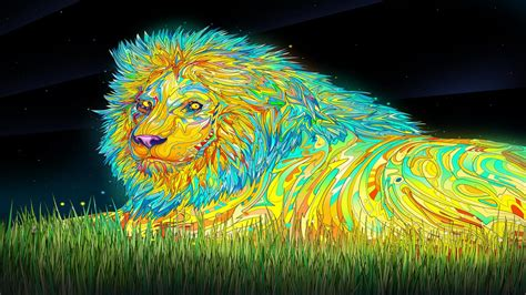 wallpaper colorful lion colorful lion wallpaper