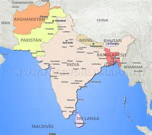 south asia maps
