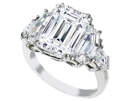 emerald cut engagement ring cadillac and bullet