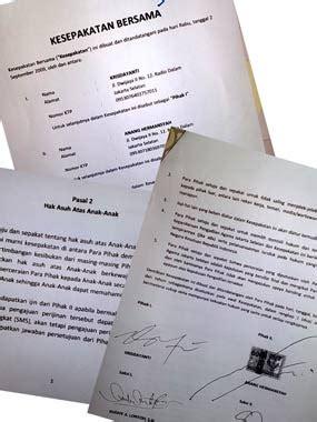 inilah surat kesepakatan cerai anang kd joglonet