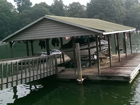 how to build a boat dock roof dock services of lake norman dock roof construction