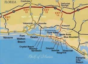 destin florida on map maps of the emerald coast rentals in destin
