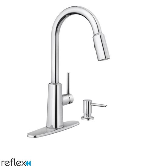 moen 87066 chrome pullout spray high arc kitchen faucet