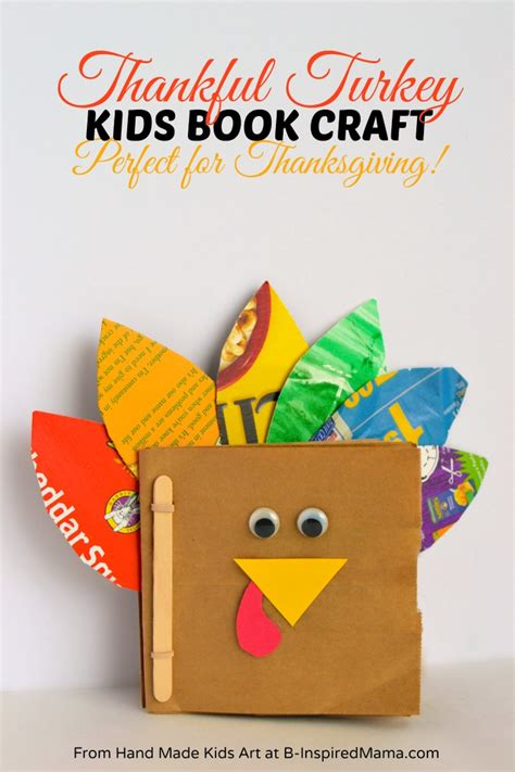 craft book for thanksgiving crafts for a thankful turkey book b