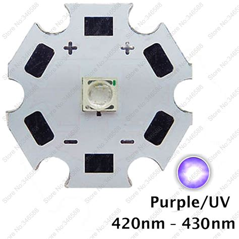 High Power Led 3535 1 3w 130lm 2 800 3 000k Lb 5pcs 3w 420nm to 430nm uv ultraviolet purple color 3535 epileds high power led light emitter
