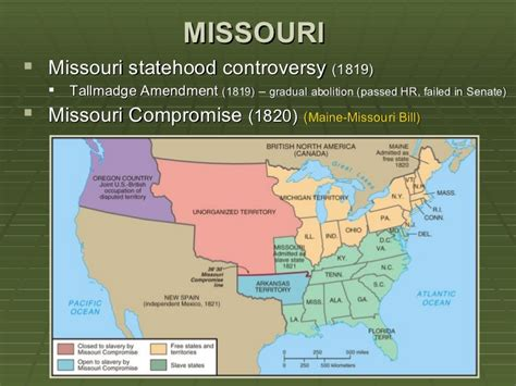 missouri compromise sectionalism nationalism vs sectionalism ppt