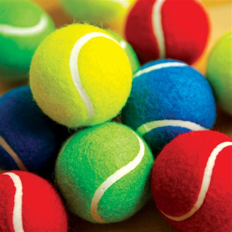 buy coloured playground tennis balls pk tts