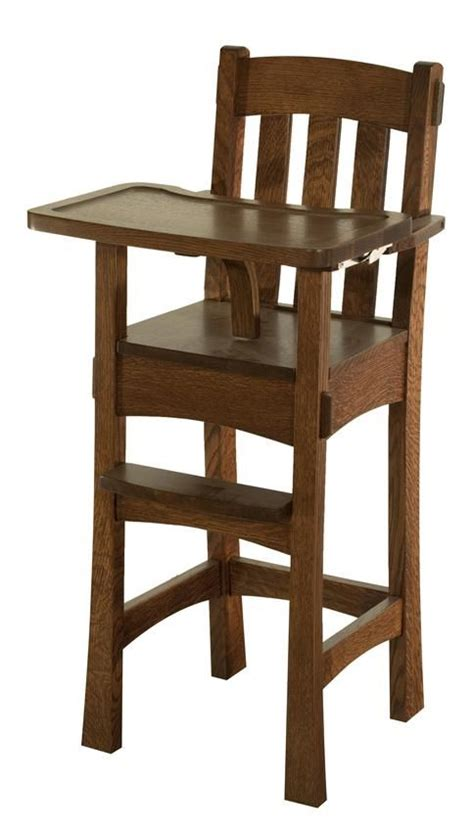 Wooden High Chairs For Babies by Amish Modesto Wooden High Chair Wooden High Chairs And