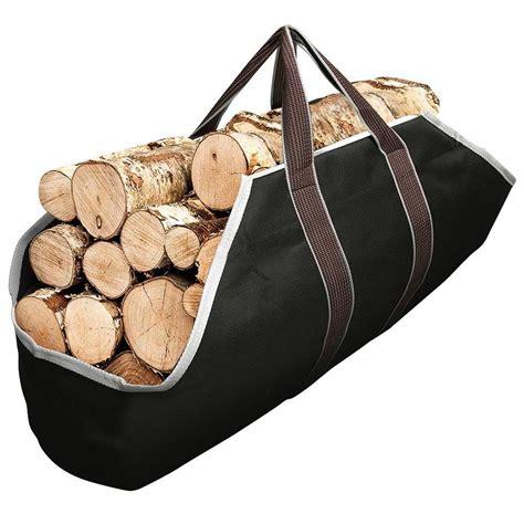 buy large canvas log tote bag carrier indoor fireplace