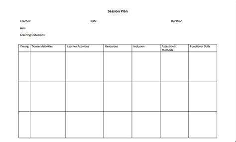 Session Outline Template by Micro Teach Lesson Plan Aid