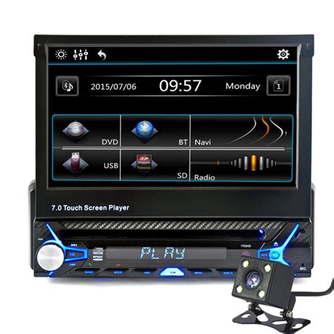 format audio poste voiture new 7 inch 2din car bluetooth mp5 player hd touch screen
