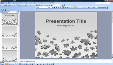 free powerpoint puzzle template puzzle powerpoint template