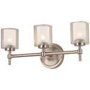 Brushed Nickel Vanity Lights Shop Bel Air Lighting 3 Light Brushed Nickel Bathroom