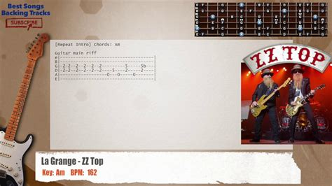 La Grange Chords by La Grange Zz Top Guitar Backing Track With Chords And