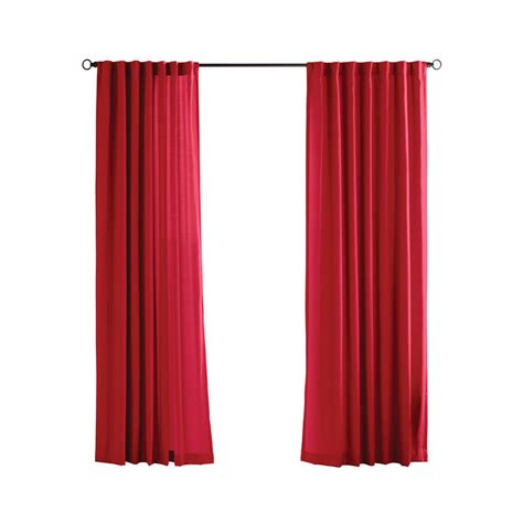 red outdoor curtains shop solaris 96 in l red canvas solid outdoor window sheer