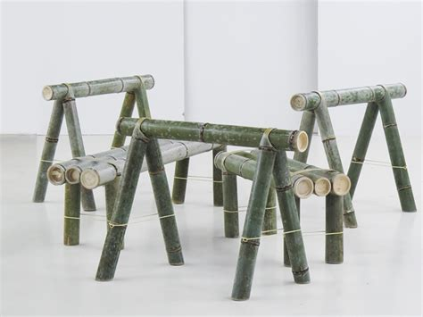 Bamboo Table L Design Stefan Diez Reinterprets The Traditional Bamboo Bench For Japan Creative