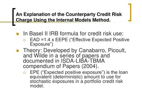 Counterparty Credit Risk Formula ppt issues in counterparty credit risk powerpoint