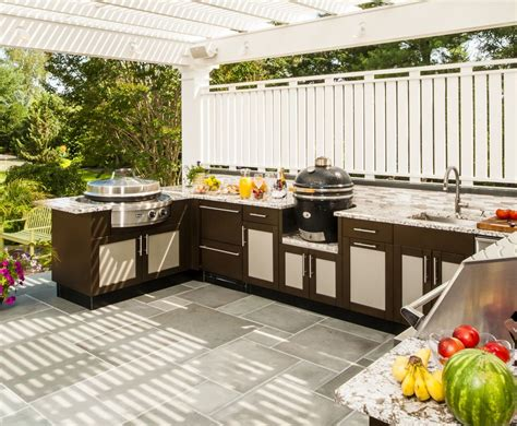 stainless steel cabinets for your outdoor kitchen trend brown jordan outdoor kitchens tech 20