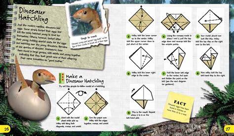 Dinosaur Origami Book - origami adventures dinosaurs the dinosaur farm