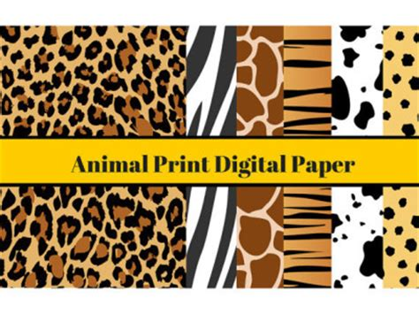 printable jungle paper a4 animal digital paper animal print digital paper