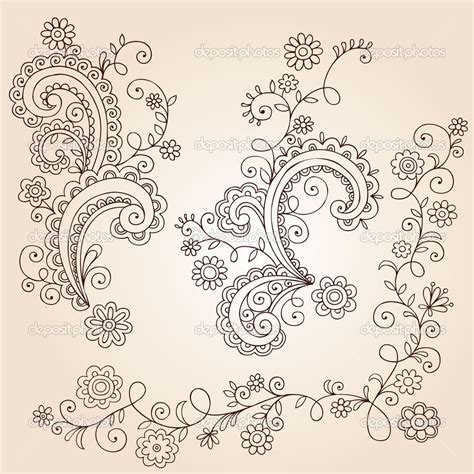 henna tattoo vine designs paisley and flower tattoos flowers leaves and