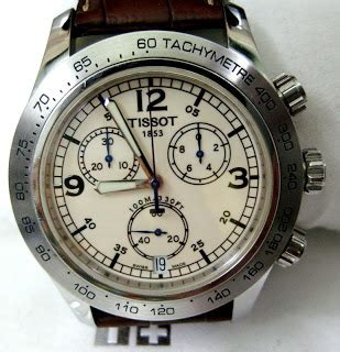 Tissot V8 T1064171105100 Swiss Made Original s treasure chest of time pieces authentic tissot v8 sport chronograph gents wristwatch sold