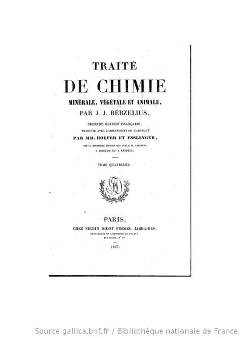 Trait 233 De Chimie Min 233 Rale V 233 G 233 Tale Et Animale Tome 4