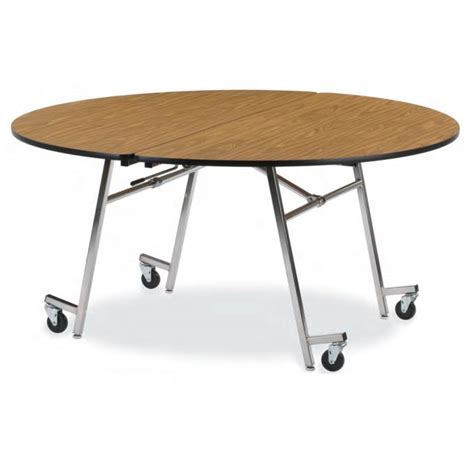 virco mt72r mobile folding shape cafeteria table 72 quot