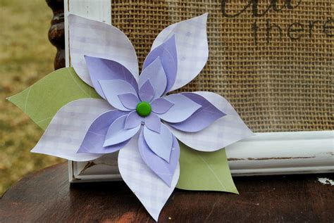 how to make 3d paper flowers the easy free way