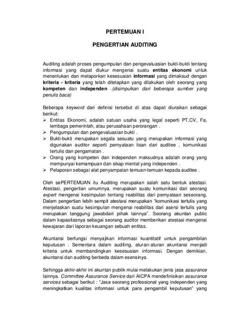 Sawyerr Auditing Buku 1 Edisi 5 modul audit jadi