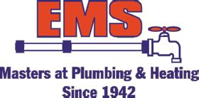 ems plumbing contact us for all of your heating and