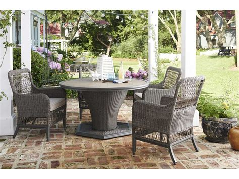 Paula Deen Outdoor Dogwood 54 Round Wicker Dining Table