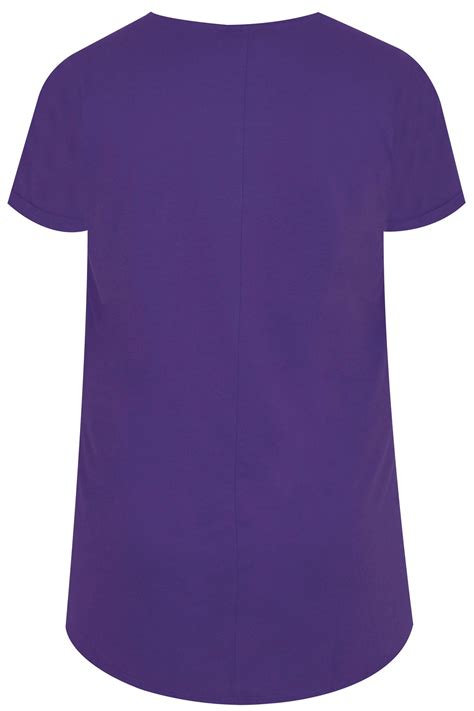T Shirt S A S Buy Nggifa Name t shirt fausse poche violet ourlet arrondi taille 44 224 64