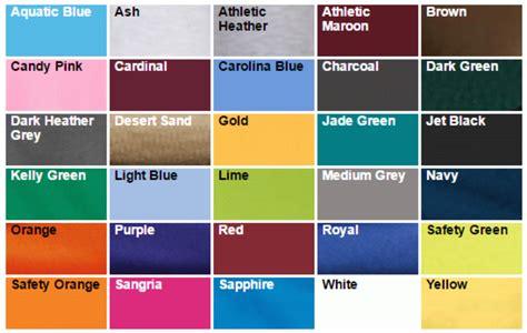 hanes t shirt colors hanes t shirt color chart