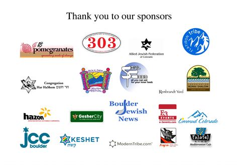 Thank You To Our Advertisers by Thank You To Our Sponsors Ignitechanukah