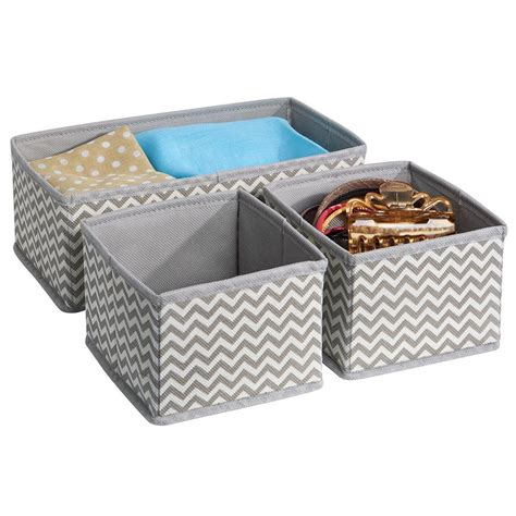 Fabric Drawer Storage by Interdesign Chevron Fabric Closet Dresser