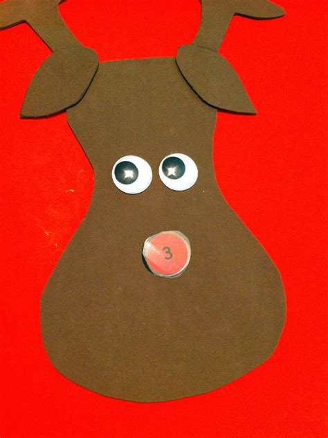 pin the nose on rudolph template diy pin the nose on rudolph not your average crafty