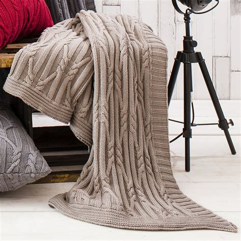 cable knit throws kilburn and arran taupe cable knit throw kilburn