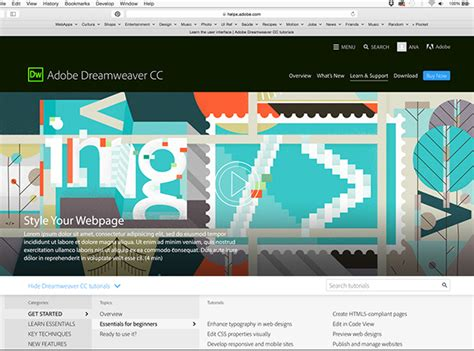 dreamweaver tutorial gallery adobe dreamweaver tutorial content set 2 on pantone canvas