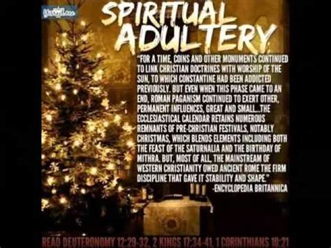 christmas a pagan ritual related to spiritual babylon and