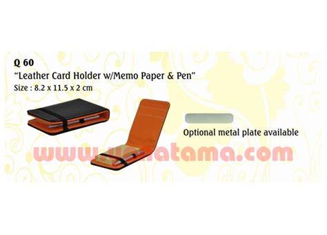 Memo Leather Card Holder Pen 1 name card holder leather card holder w memo paper pen q60