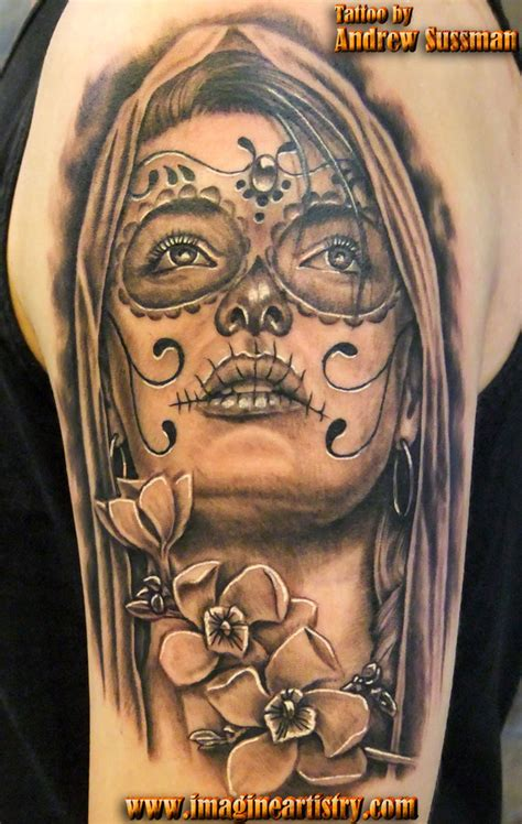 tattoo pictures day of the dead 44 day of the dead tattoos gallery