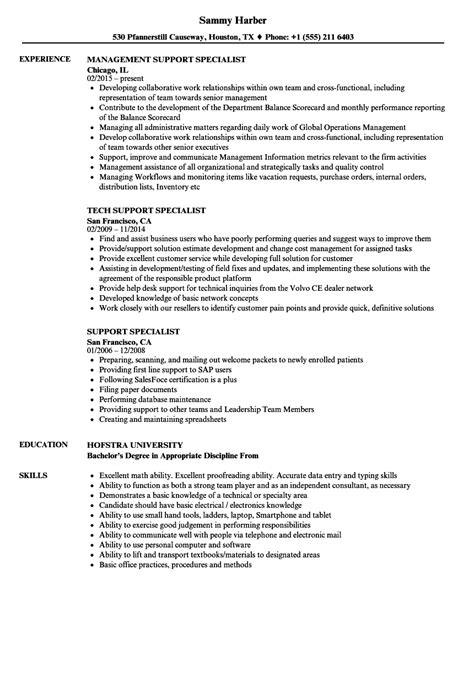 Resume Technical Support Specialist by Technical Support Specialist Resume Sle Www
