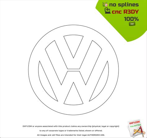 dxf templates free dxf files for cnc machines vw logo free